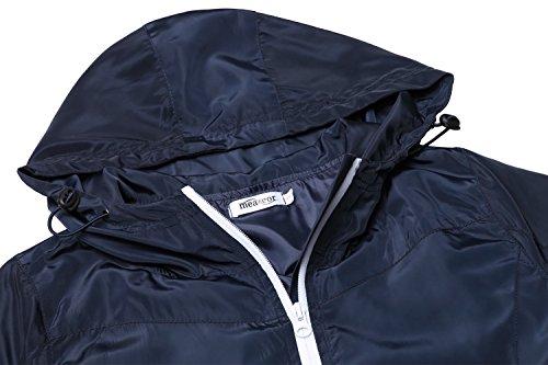 Meaneor Damen Regenjacke Wasserdicht Übergangsjacke Regenmantel Kapuzenjacke Regenparka Sport Jacke Funktionsjacke Outdoor Winddicht -