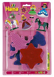 Hama / 3-Piece Set of Small Bead Boards for Fuse Beads, Princess
