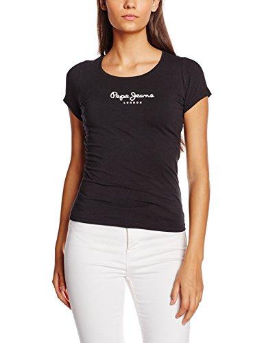 pepe-jeansnewvirginiat-shirtfemmenoirblackfr40taillefabricantm