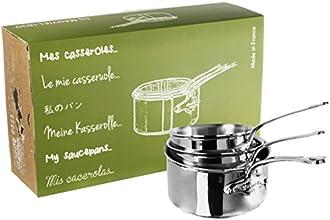 Mauviel 5210.50 M'cook Série de 3 Casseroles 16, 18 et 20 cm - Fonte Inox