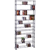 Atlantic 63135237 Maxsteel 864 CD/450 DVD/BluRay/Games 12-Tier Media Rack