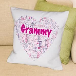 Throw Pillow With The Word Home On It : Amazon.com - Grandma s Heart Word-Art Throw Pillow