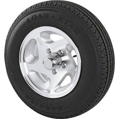 Martin Aluminum Directional Spoke Trailer Tire & Assembly, ST205/75R-15, Model# DM205R5C-5AD