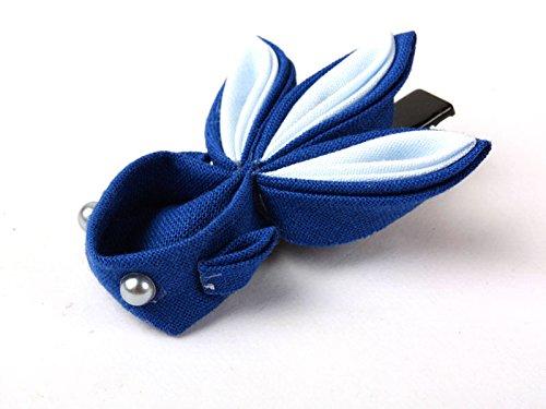 和風 金魚形 ヘアピン 和装 髪飾り#ブルー