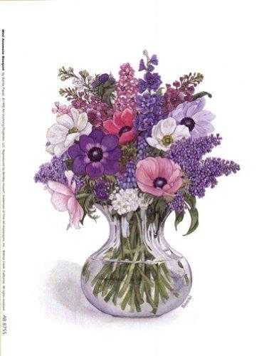 Anemone Bouquet Finest LAMINATED Print Bambi Papais 6x8