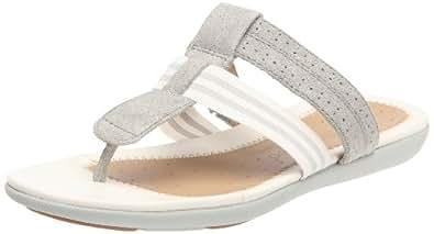 Clarks Un Sheena 20348797, Damen Clogs & Pantoletten, Weiss (Silver Leather), EU 42 (UK 8)