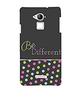 Be Different in Crowd 3D Hard Polycarbonate Designer Back Case Cover for Coolpad Note 3