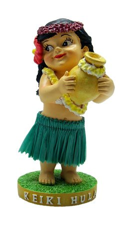 "Keiki Hula Mini Dashboard Doll 4.25"" - 1"