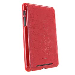 Nexus 7 Tablet Cruzerlite Clone Army Designer Case for Asus Google Nexus 7 (2012) Tablet Red