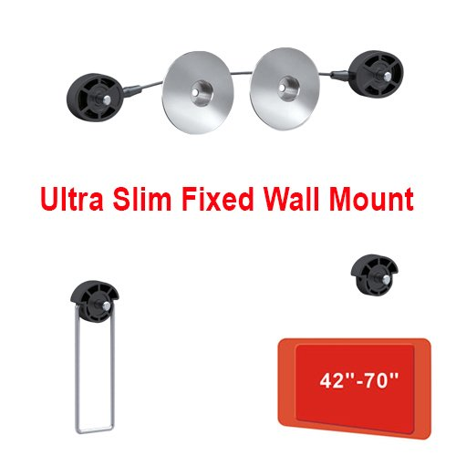 """Cmple - Compact Fixed Super-Slim Wall Mount For 42""""-70"""" Led, 3D Led, Lcd Tv'S"""