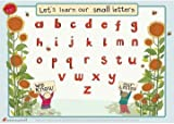 Educational Learning Mats : Learn to write your lower case letters for right handers - Write-on, wipe-clean learning mats.