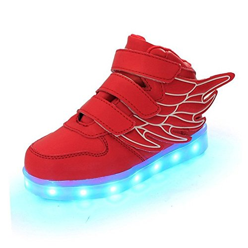 ABOZY Kid LED Fashion Sneaker Light Up Shoes USB Charging LED Light Sport Shoes (US Size 11 M, a4)