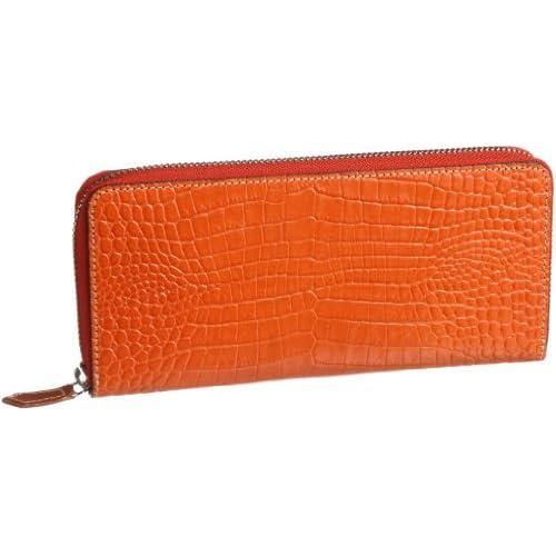 [エスクール] S・coeur スフィーダ ラウンドファスナーハニーセル長財布 0526 (00)オレンジ (オレンジ)
