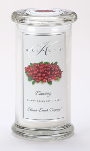 Kringle Candle Company Large Classic Apothecary Jar - Cranberry