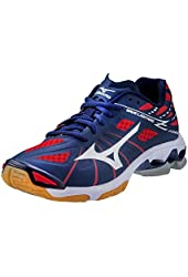 Mizuno Wave Lightning Z Women's Volleyball Shoes - Navy & Red