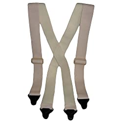 48 inch REG - Undergarment Travel Suspenders *NEWLY DESIGNED* Stay Closed Clips