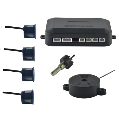 4X-REVERSE-PARKING-AUDIO-SYSTEM-KIT-REVERSING-SENSORS-BUZZER-ALARM