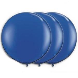 36 Inch Latex Balloon Dark Blue (Premium Helium Quality) Pkg/3 by PMU