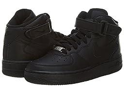 Nike Kid\'s Air Force 1 Mid (GS) Black/Black 6.5Y