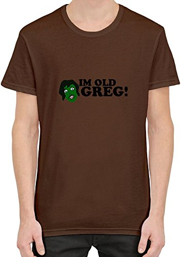 I'm Old Greg T-Shirt For Men| Custom -Printed Tee| 100% Superior Combed/Ring-Spun Cotton| Premium Quality DTG Printing| Unique Clothing For Men By Teezer Tee Large (Im Old Greg compare prices)