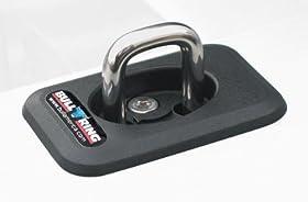 Erickson 4001 Black 1000 lbs Load Capacity Heavy Duty Retractable Bull Ring Stake Pocket Anchor, Pack of 2