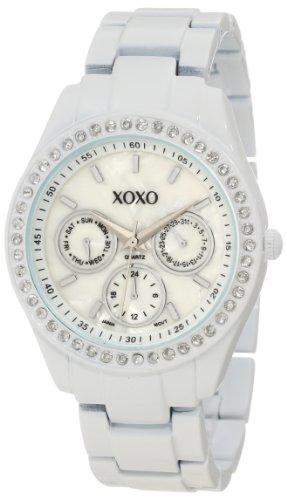 XOXO Women's XO114 Rhinestone Accent White Enamel