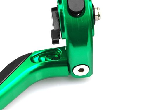 Motorcycle Parts CNC Folding Foldable Extendable Brake Master Cylinder Oil Fluid Reservoir Levers Kit Green 7/8(22mm) Fit For Suzuki SV650/S 1999 2000 2001 2002 2003 2004 2005 2006 2007 2008 2009 2010