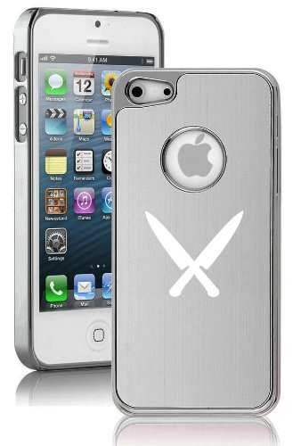 Apple Iphone 5C Aluminum Plated Chrome Hard Back Case Cover Chef Knives (Silver)