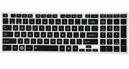 -Black Ultra Thin Silicone Keyboard Cover Protector Skin for Toshiba