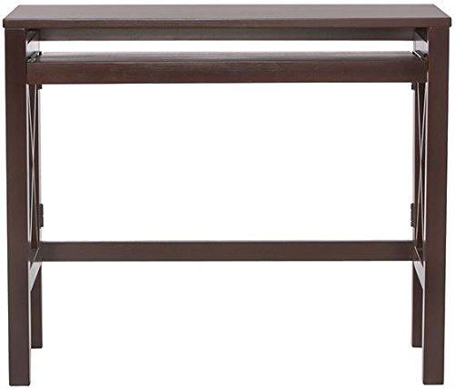 """Montego Folding Desk, 30""""Hx36""""Wx18""""D, Espresso front-699538"""