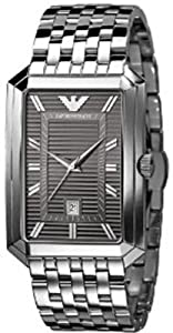 Armani Classic Collection Grey Dial Stainless Steel Mens Watch AR0458