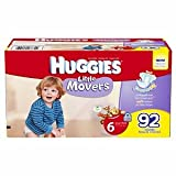 Huggies Little Movers Diapers, 6, 35+ lbs 92 ea
