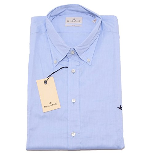 8307P camicia manica lunga azzurra oxford BROOKSFIELD uomo shirt men [44]