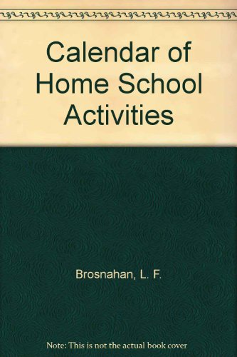 Calendar of Home School Activities