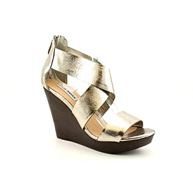 Steve Madden Women's Riddgge Platform Wedge Sandal,Pewter Leather,7.5 M US