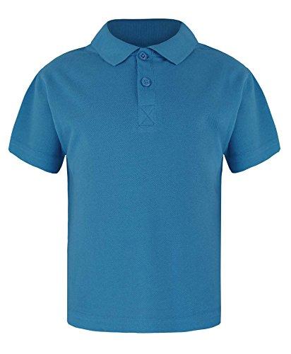 Rageit Big Boy'S Basic Pique Polo T Shirt 8-9 Years Blue