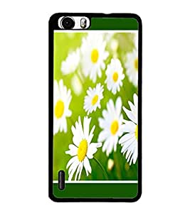 PrintDhaba Flowers D-1434 Back Case Cover for HUAWEI HONOR 6 PLUS (Multi-Coloured)