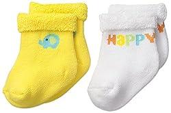 Gerber Unisex-Baby Terry Socks, Elephant, 0-6 Months (Pack of 2)
