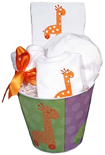 Raindrops Baby Accessory, Unisex Giraffe Set, Orange