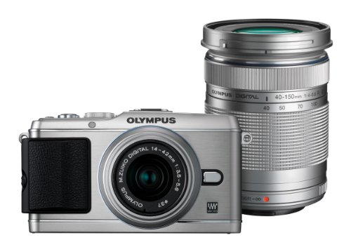Olympus Pen E-P3 Compact System Camera Double Zoom Kit - Silver (Includes M.ZUIKO Digital 14 -42mm II R and M.ZUIKO Digital 40 -150mm Lenses)