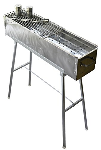 Check Out This Party Griller 32 Stainless Steel Charcoal Grill - Portable BBQ Grill, Yakitori Grill...