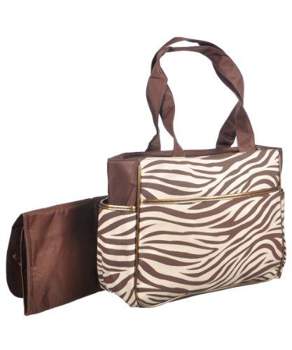 Baby Essentials Zebra Diaper Tote