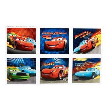 World of Cars Stickers 4 Sheets