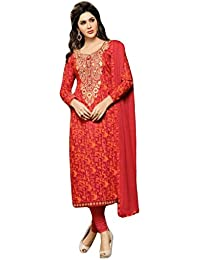 1 Stop Fashion Multi Color Cotton With Print Work Unstitched Straight Suit