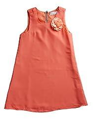 Chiffon sun dress with flower