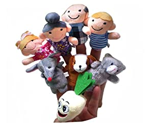 Baby Fairy Tale the Enormous Turnip Finger Puppets Farmer Version Story from Lixia