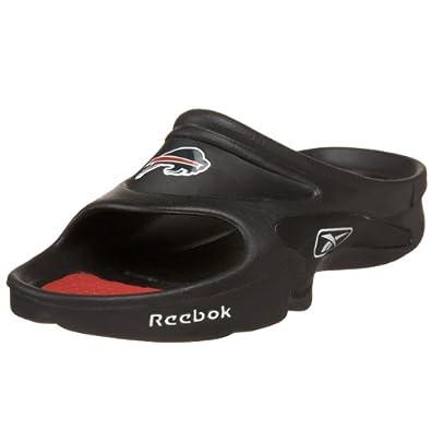 Reebok Men's NFL Mojo Slide Sandal,Black/Red (Bills),6 M US