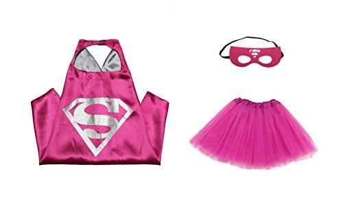 Rush-Dance-Kids-Childrens-Deluxe-Comics-Super-Hero-CAPE-MASK-TUTU-Costume