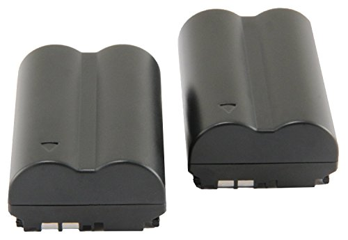 CREJOY™TWO PACK 1600 mAh BP-511A BP511 BP511A Lithium Ion Battery Pack for Canon EOS 5D, 50D, 40D, 20D, 30D, 10D, Digital Rebel, 1D, D60, 300D, D30, Kiss, Powershot G5, Pro 1, G2, G3, G6, G1, Pro90 is, Optura 20, Xi, 10, PI, 200MC, 100MC