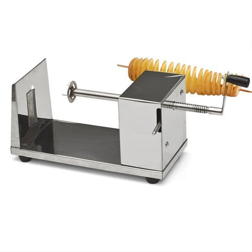 RioRand® Manual Stainless Steel Twisted Potato Slicer Spiral Vegetable Cutter French Fry (Manual Potato Slicer compare prices)